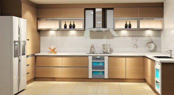 Elegant Kitchen L SHAPE