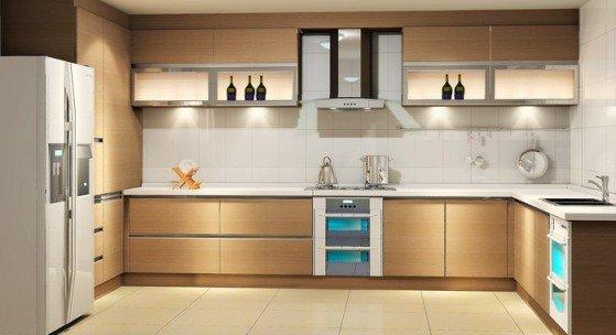 Elegant Kitchen L SHAPE