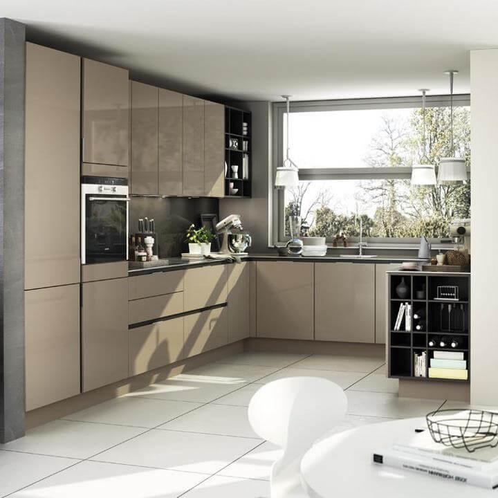 L Shaped Modular Kitchen Service: Details